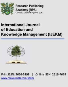 International Journal of Education and Knowledge Management (IJEKM)